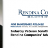 Jon Satter Joins Rendina Advisory Board